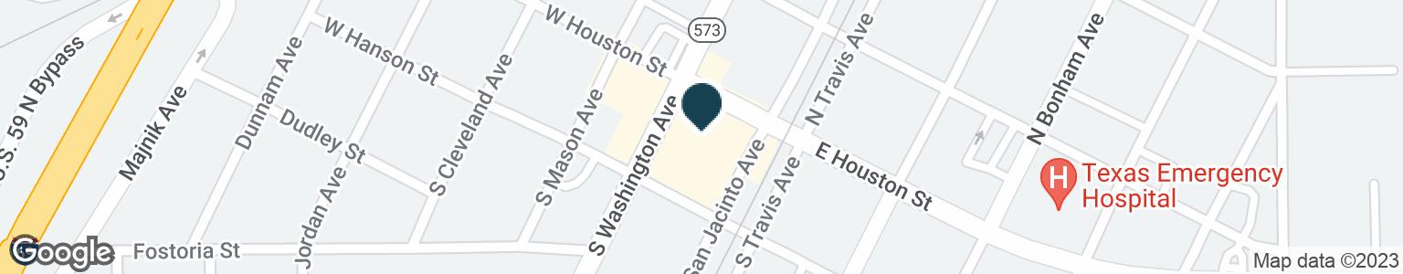 Google Map of101 S WASHINGTON AVE