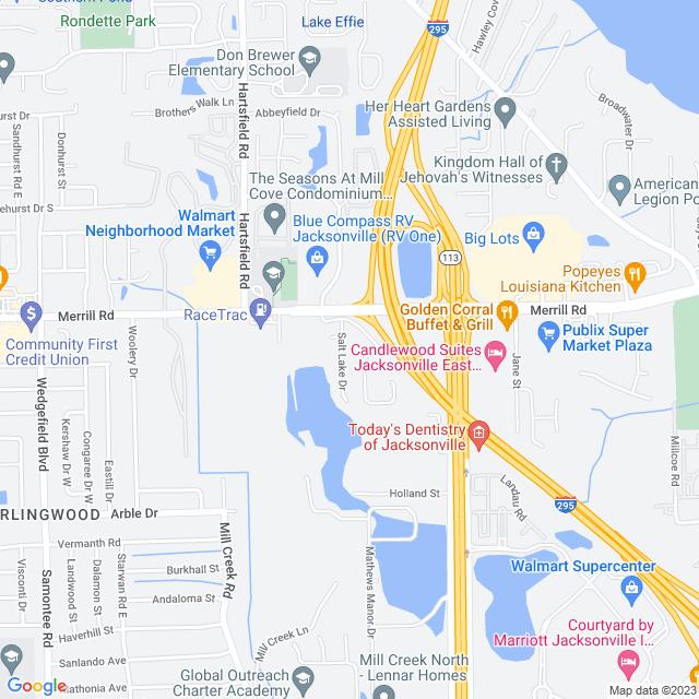 Map of I 295 Express Lanes