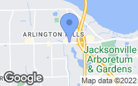 Map of Jacksonville, FL