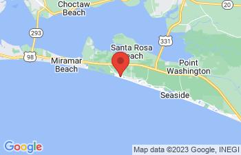 Map of Santa Rosa Beach