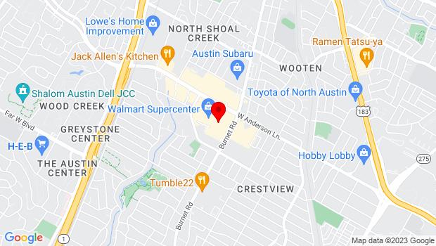 Google Map of 2525 W Anderson Lane, Austin, TX 78757