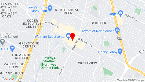 Google Map of 2525 West Anderson Ln, Ste. 530, Austin, TX 78757