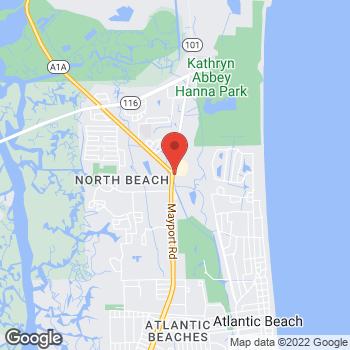 Map of Arby's at 2501 Mayport Rd, Jacksonville, FL 32233