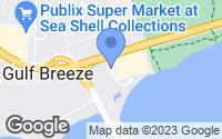 Map of Gulf Breeze, FL