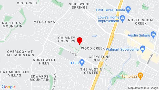 Google Map of 7300 Hart Lane, Austin, TX 78731