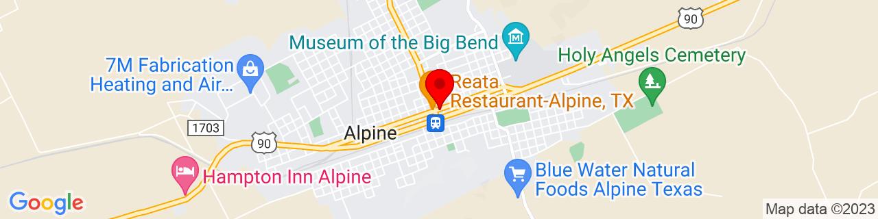 Google Map of 30.358611111111113, -103.66111111111111