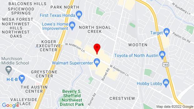 Google Map of 2700 West Anderson, Austin, TX 78757