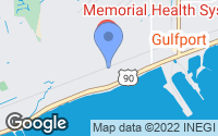 Map of Gulfport, MS