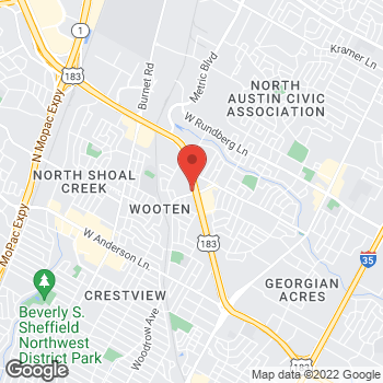 Map of Arby's at 8648 Research Blvd, Austin, TX 78758-7152
