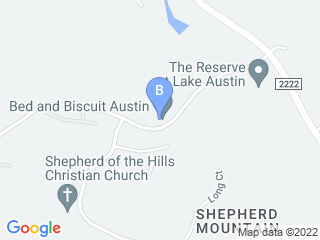 Map of Bed and Biscuit Austin Dog Boarding options in Austin | Boarding
