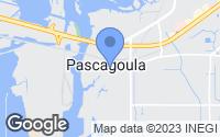 Map of Pascagoula, MS