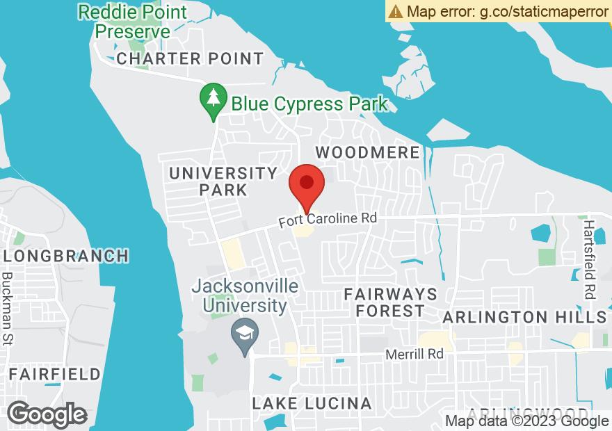 Google Map of 6103 FORT CAROLINE RD