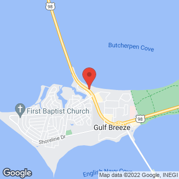 Map of Taco Bell at 112 Gulf Breeze Pkwy, Gulf Breeze, FL 32561