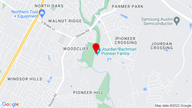 Google Map of 10621 Pioneer Farms Drive, Austin, TX 78754