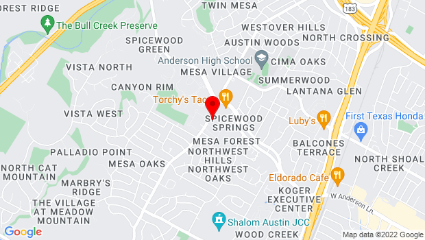 Google Map of 8001 Mesa Drive, Austin, TX 78731