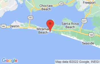 Map of Miramar Beach