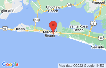 Map of Miramar Beach