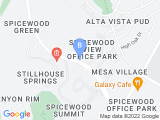 Map of Spicewood Springs Animal Hospital Dog Boarding options in Austin | Boarding