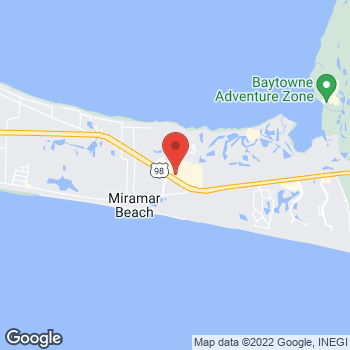 Map of Panera Bread at 10652 Emerald Cost Parkway, Miramar Beach, FL 32550