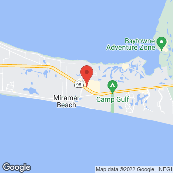 Map of Panera Bread at 10652 Emerald Cost Parkway, Miramar Beach, Florida 32550