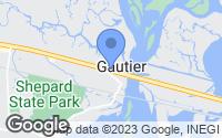Map of Gautier, MS