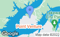Map of Point Venture, TX