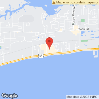 Map of American Eagle Outfitters at 2600 Beach Boulevard, Biloxi, MS 39531