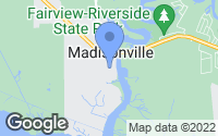 Map of Madisonville, LA