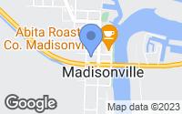 Map of Madisonville, LA