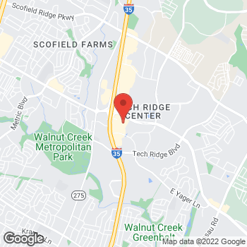 Map of RediClinic at 500 Canyon Ridge Dr, Austin, TX 78753