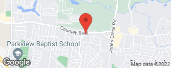 Map of 13702 Coursey Blvd in Baton Rouge