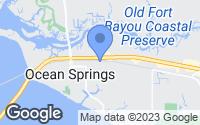 Map of Ocean Springs, MS