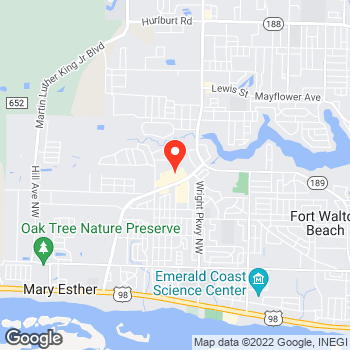 Map of Pizza in Fort Walton Beach, FL – Cicis Pizza at 417D Mary Esther Cutoff, Fort Walton Beach, FL 32548
