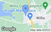 Map of Willis, TX