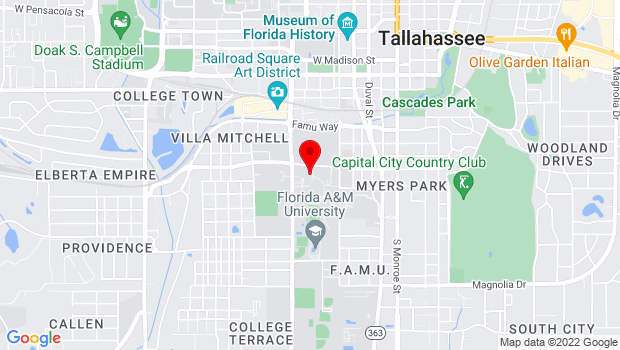 Google Map of Essential Theatre, Florida A&M University, Tallahassee, FL 32307