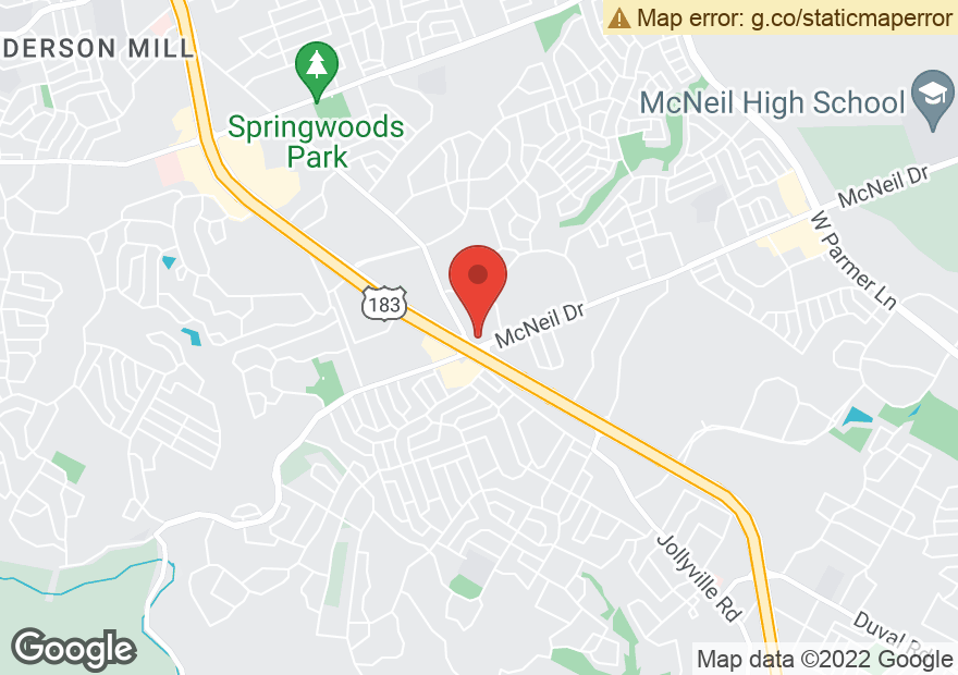 Google Map of 7410 MCNEIL DR