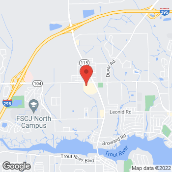 Map of Citi Trends at 3000 Dunn Avenue, Jacksonville, FL 32218