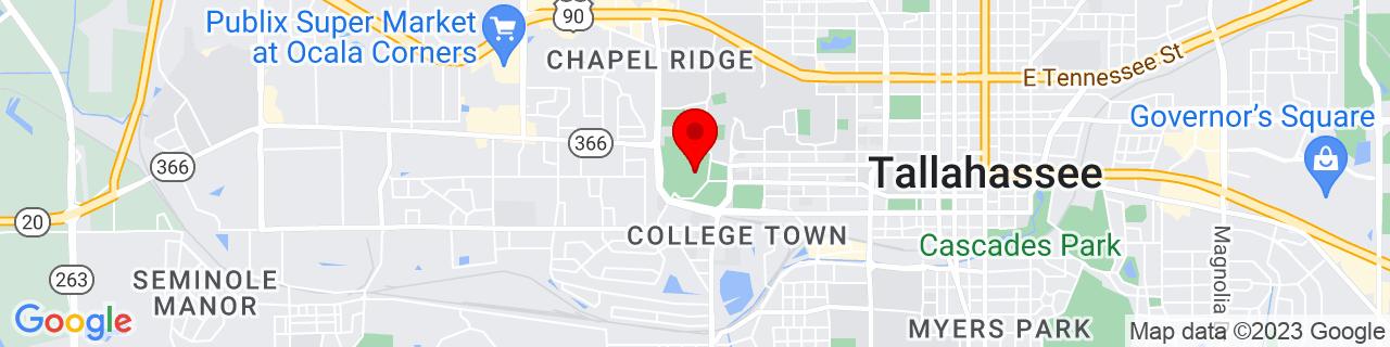 Google Map of 30.438166666666667, -84.30358888888888