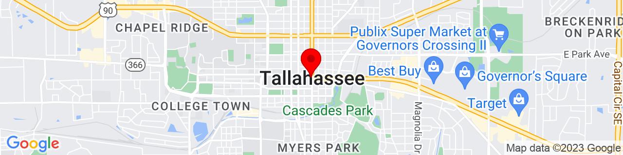 Google Map of 30.438333333333333, -84.28083333333333
