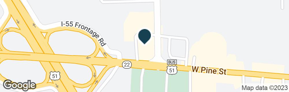 Google Map of1100 W PINE ST
