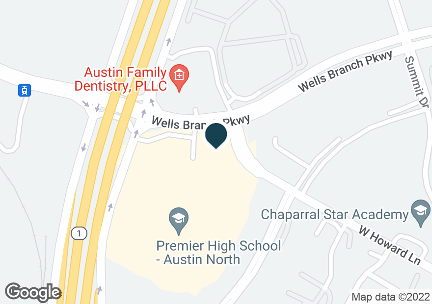 Google Map of3407 WELLS BRANCH PKWY