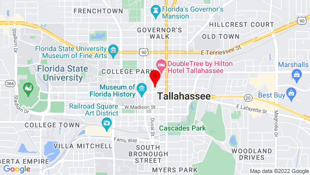 Google Map of 300 South Adams Street, Tallahassee, FL 32301