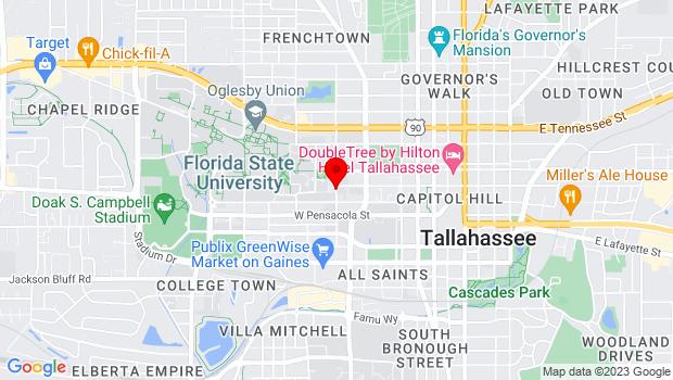 Google Map of 222 S Copeland St, Tallahassee, FL 32304