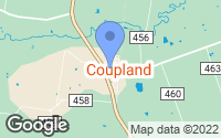 Map of Coupland, TX