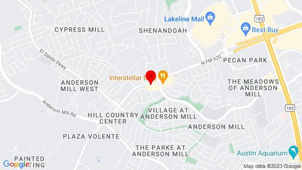 Google Map of 12129 N FM 620, Austin, TX 78750