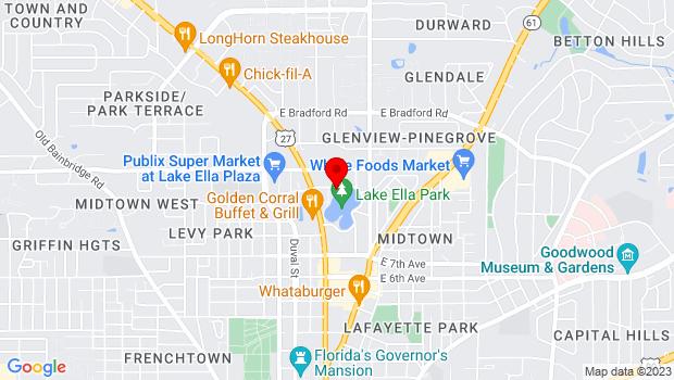 Google Map of 229 Lake Ella Drive, Tallahassee, FL 32301
