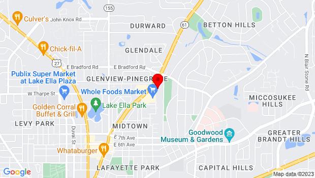 Google Map of 1861 Thomasville Road, Tallahassee, FL 32303