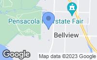 Map of Pensacola, FL