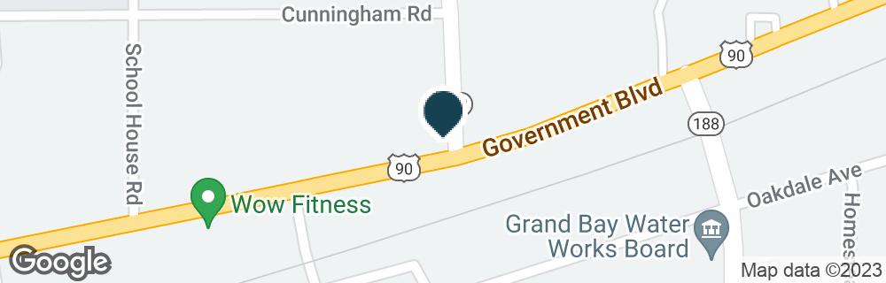 Google Map of12550 US HIGHWAY 90