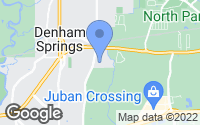 Map of Denham Springs, LA
